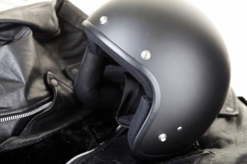 Leather Jacket「Motorbike Helmet and Jacket」:スマホ壁紙(17)