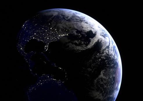 星空「アメリカの夜景」:スマホ壁紙(4)