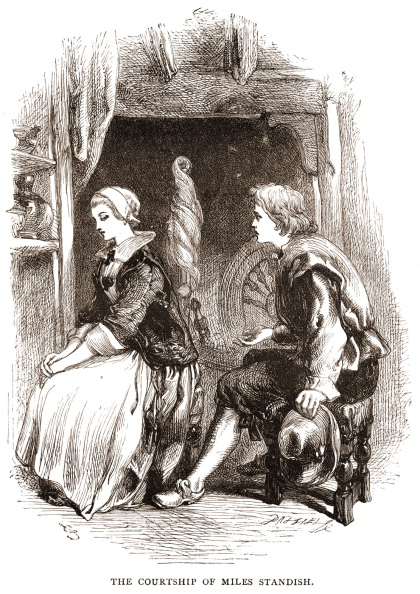 Romance「Henry Wadsworth Longfellow 's poem 'The Courtship of Miles Standish' (1858) - portrait of Miles Standish & Priscilla Mullins.」:写真・画像(15)[壁紙.com]