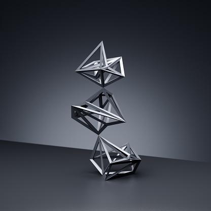 Wire-frame Model「Balancing wireframe shapes」:スマホ壁紙(2)