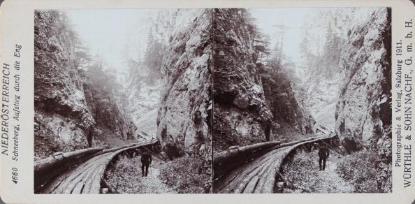 Amusement Park Ride「Schneeberg. Die Eng. With A Log Flume. 1911. Stereo Photograph By Würthle & Sohn Nachf. / Salzburg.」:写真・画像(1)[壁紙.com]