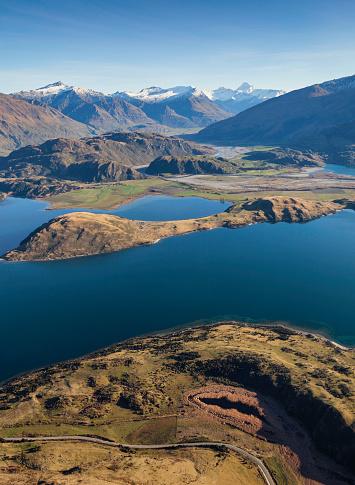 Mt Aspiring「Lake Wanaka From The Air」:スマホ壁紙(3)