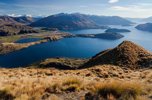 Mt Aspiring「Lake Wanaka And The Southern Alps」:スマホ壁紙(0)
