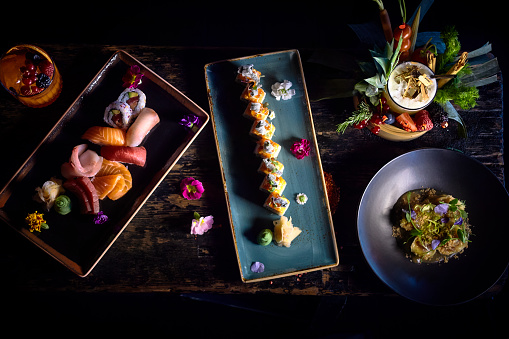 Chow Mein「Asian food plates variety」:スマホ壁紙(16)