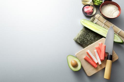 Soy Sauce「Asian Food: Sushi Ingredients Still Life」:スマホ壁紙(2)