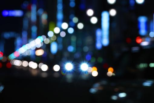 東京都中央区「デフォーカス Street でお車の夜景が東京に」:スマホ壁紙(19)