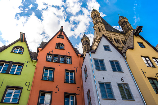 Cologne「Colorful townhouses, Cologne,North Rhine Westphalia, Germany」:スマホ壁紙(7)