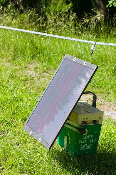 Grass Family「An electric fence powered by a solar panel」:写真・画像(1)[壁紙.com]