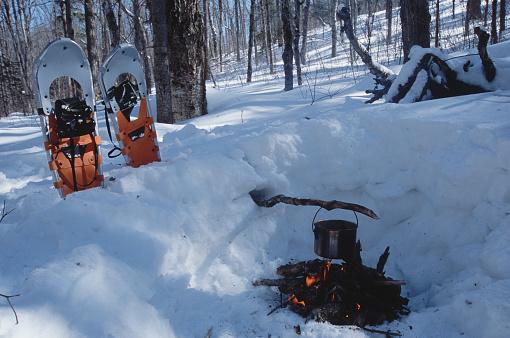 Snowdrift「camp fire in deep snow」:スマホ壁紙(7)