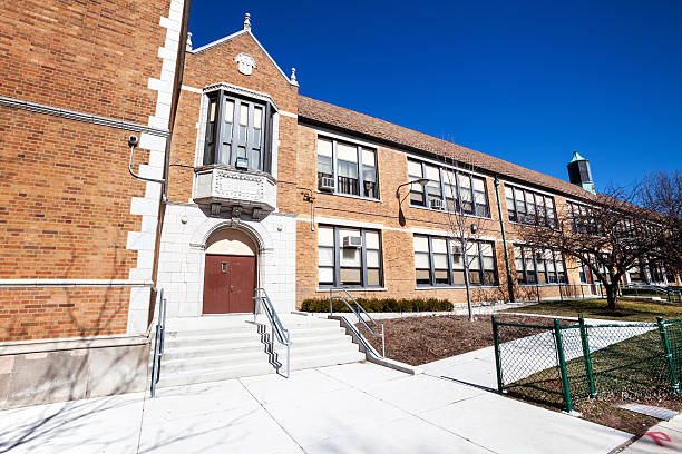 Tudor Revival Elementary School  in West Elsdon, Chicago:スマホ壁紙(壁紙.com)
