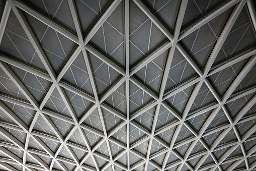 Engineering「Section of the roof at Kings Cross Station.」:スマホ壁紙(6)