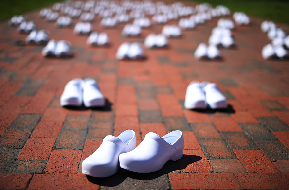 Shoe「Nurses Union Protests Outside White House Calling For More Protection For Frontline Workers」:写真・画像(9)[壁紙.com]