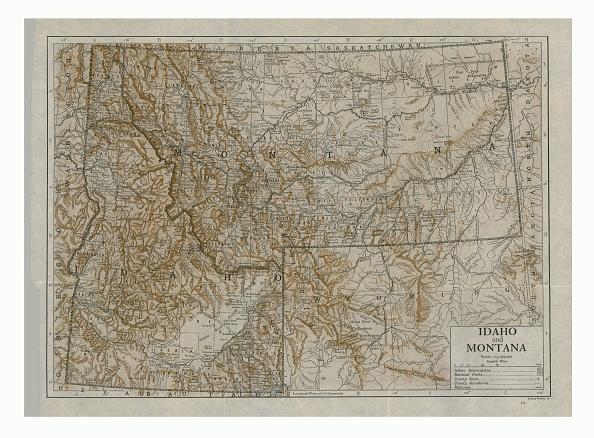 Full Frame「Map Of Idaho And Montana」:写真・画像(3)[壁紙.com]