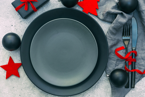 Plate「Festive Christmas table setting」:スマホ壁紙(1)
