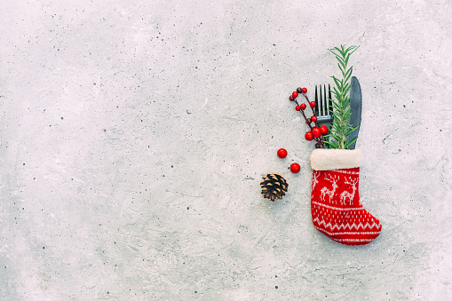 Place Setting「Festive Christmas place setting and decorations」:スマホ壁紙(4)