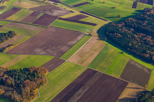 Patchwork Landscape「Fields and woodland at Swabian Alb, Germany」:スマホ壁紙(19)