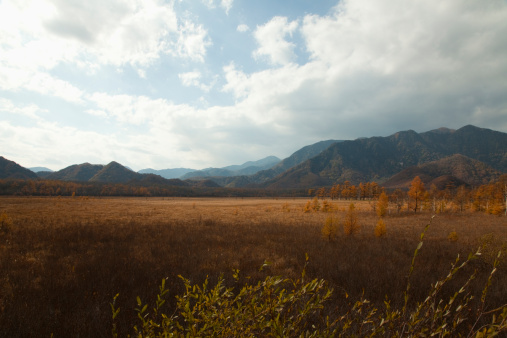 Nikko City「Fields and Mountains in Autumn」:スマホ壁紙(12)