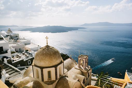 Aegean Sea「Fira, Santorini」:スマホ壁紙(10)
