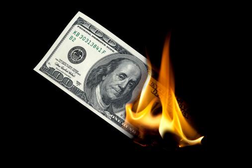 Currency「Burning one hundred dollar」:スマホ壁紙(10)