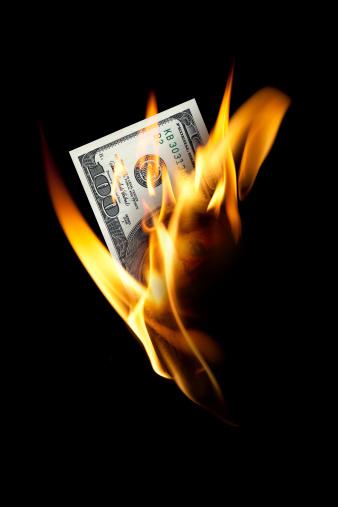 American One Hundred Dollar Bill「Burning one hundred dollar」:スマホ壁紙(0)
