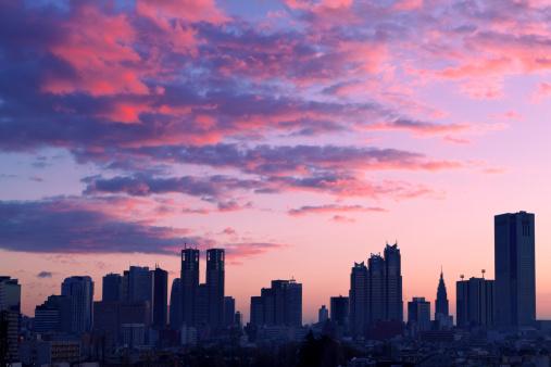 Dawn「Shinjuku Skyline at Dawn」:スマホ壁紙(13)