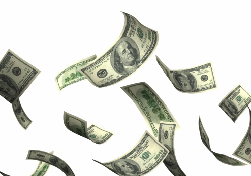 Currency「Money falling」:スマホ壁紙(10)