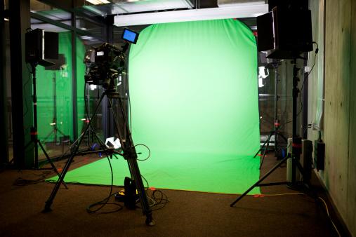 Stage Set「Empty Green Screen Film Set」:スマホ壁紙(5)