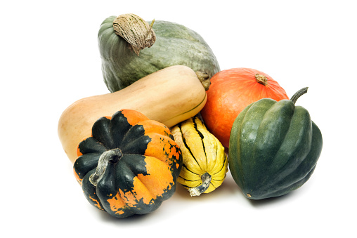Gourd「Winter Squash Gourd Family, Still Life Isolated on White Background」:スマホ壁紙(12)