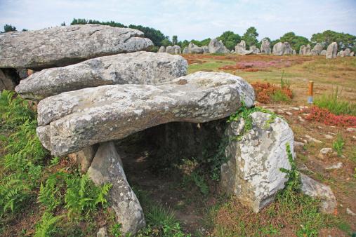 Archaeology「Megalithic dolmen, Carnac, Morbihan, Brittany, France」:スマホ壁紙(19)