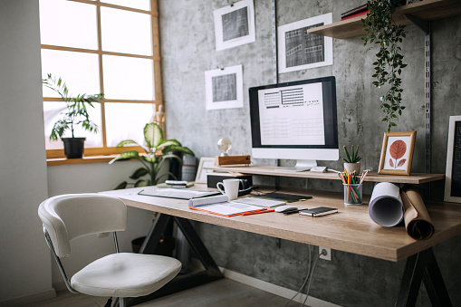 Home Office「Workplace of an Architect」:スマホ壁紙(4)