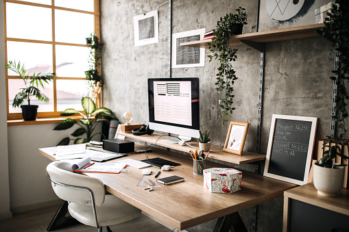 Home Office「Workplace of an Architect」:スマホ壁紙(2)