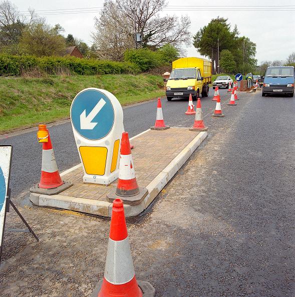 Bollard「New traffic island and traffic management on the A4251 Hemel Hempstead to Berkhamsted road refurbishment scheme. United Kingdom.」:写真・画像(16)[壁紙.com]