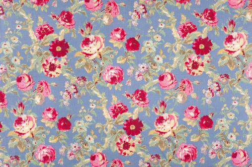 Floral Pattern「Halifax Rose Antique Floral Fabric」:スマホ壁紙(2)