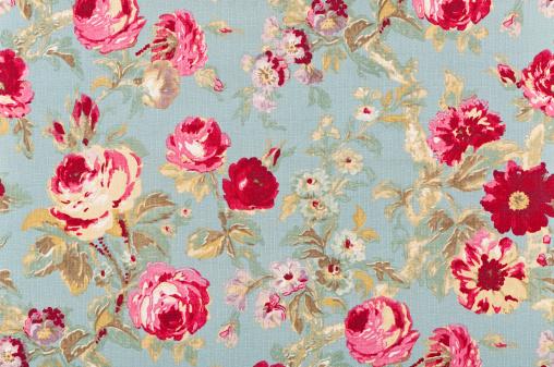 Floral Pattern「Halifax Rose Sage Close Up Antique Floral Fabric」:スマホ壁紙(4)
