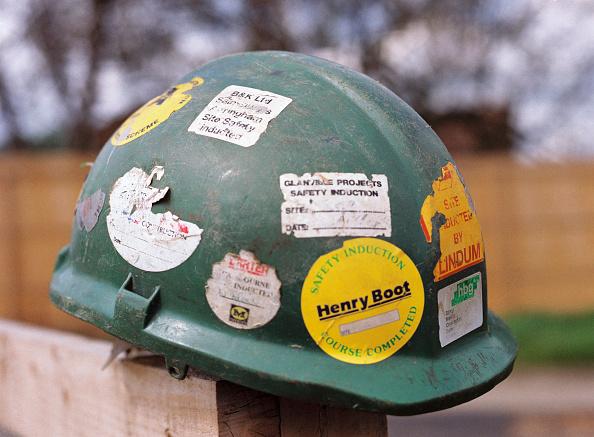 Hardhat「Worn hard hat covered in stickers.」:写真・画像(10)[壁紙.com]