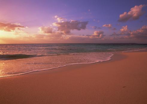 夕焼け 海「Seashore」:スマホ壁紙(14)