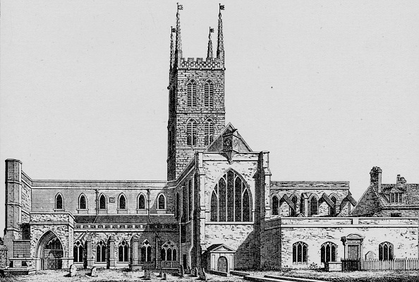 Church「'The South Side of St. Saviour's, Southwark, showing the former nave', c1825」:写真・画像(13)[壁紙.com]
