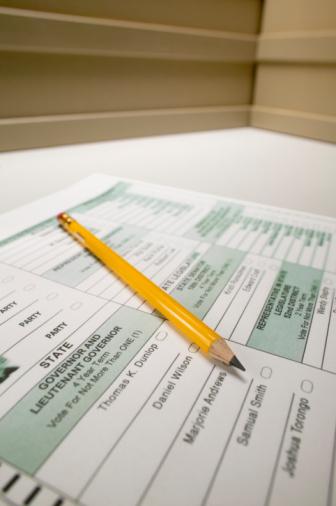 Voting Ballot「Election ballot with pencil, close-up」:スマホ壁紙(12)