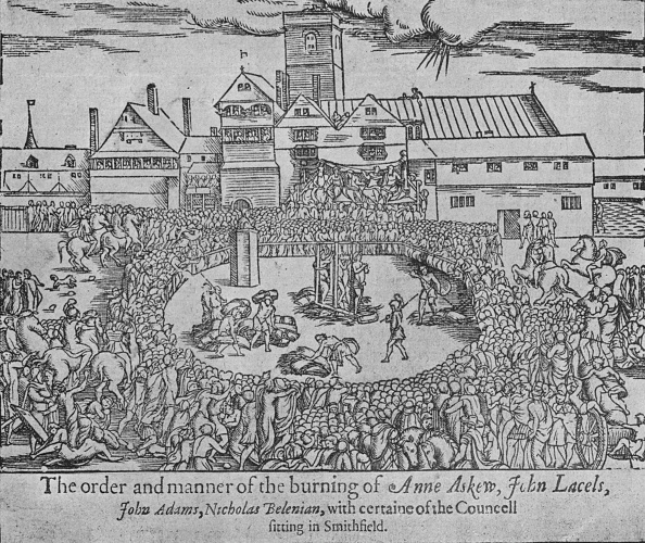 16th Century「The burning of Anne Askew, John Lascelles, John Adams and Nicholas Belenian, 1546 (1904)」:写真・画像(2)[壁紙.com]