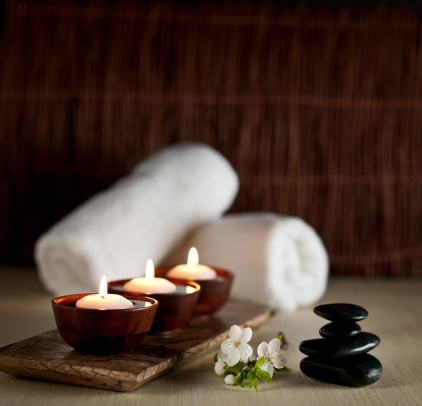 Floating Candle「Floating Candles in a Zen Spa  -- XXL Background」:スマホ壁紙(5)