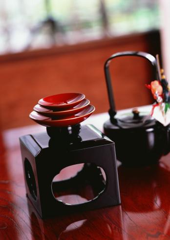 お正月「Lacquer Sake set」:スマホ壁紙(4)