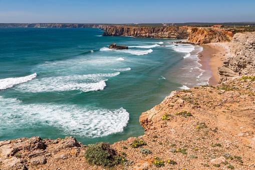 波「Playa de Tonel in the Algarve」:スマホ壁紙(7)