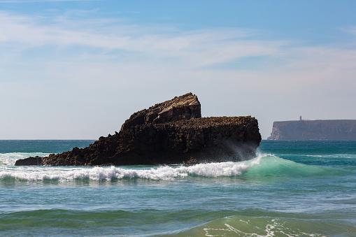 波「Playa de Tonel in the Algarve」:スマホ壁紙(9)
