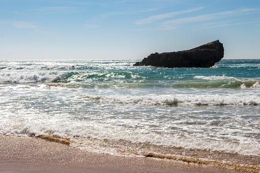 波「Playa de Tonel in the Algarve」:スマホ壁紙(1)