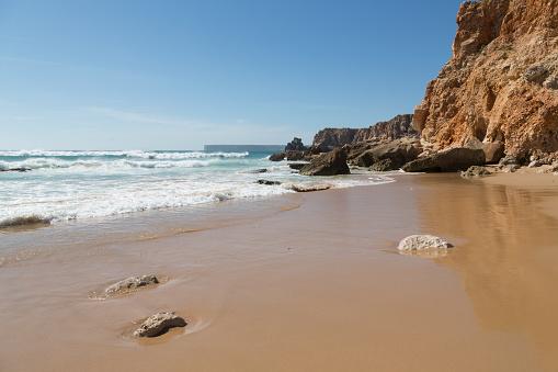 波「Playa de Tonel in the Algarve」:スマホ壁紙(3)
