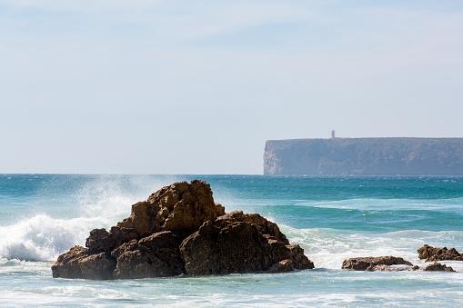 波「Playa de Tonel in the Algarve」:スマホ壁紙(6)
