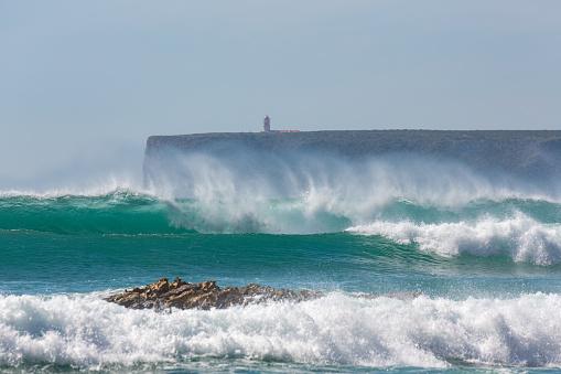 波「Playa de Tonel in the Algarve」:スマホ壁紙(12)
