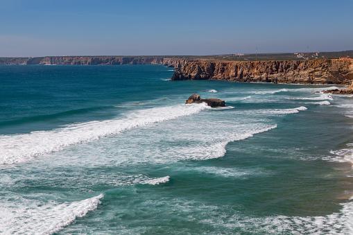 波「Playa de Tonel in the Algarve」:スマホ壁紙(10)