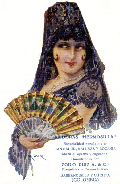 1900「Colombian advertisement for 'beauty pills'」:写真・画像(2)[壁紙.com]
