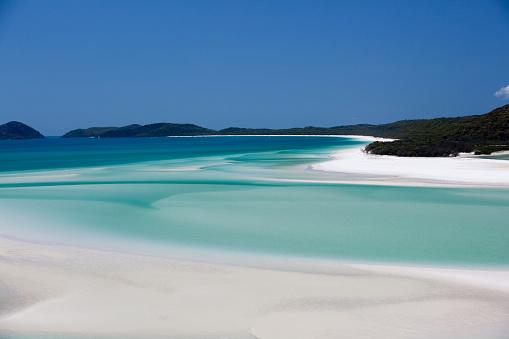 Queensland「Whitehaven Beach, Hill Inlet, Tounge Point, Whitsunday Island, Whitsunday Islands, Queensland, Australia」:スマホ壁紙(11)